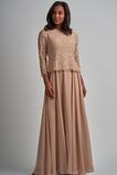 Φυσικό Δαντέλα Γραμμή Α Πολυτελές Δαντέλα επικάλυψης Μητέρα φόρεμα