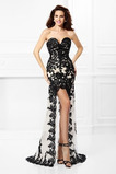 υψηλή Χαμηλή Ασύμμετρη Δαντέλα Δαντέλα επικάλυψης Μπάλα φορέματα