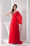Ασύμμετρα μανίκια Σιφόν Χάνει άτυπος Μήκος πατωμάτων Βραδινά φορέματα