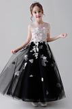 Φερμουάρ επάνω Αμάνικο Μέχρι τον αστράγαλο Λουλούδι κορίτσι φορέματα