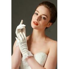 Δαντέλα Πλήρη δάχτυλο σικ Άνοιξη Σατέν Διακόσμηση Γάντια γάμου