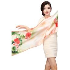 Πραγματικό μετάξι Εξοχή Ζεστό λουλούδια Σπρέι το λουλούδι Κασκόλ