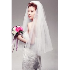 Λευκό κλιμακωτή Άνοιξη Μέγεθος μπορεί να προσαρμοστεί Πέπλα του γάμου