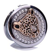 Κύκλος ένθετο διαμάντι Γενέθλια Γάμος Μεταλλικά πτυσσόμενα Μικρές Καθρέφτης & Χτένα