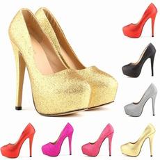 Γυαλιστερό παπούτσια νυφικό μόδας παπούτσια τακούνια