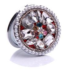 Πολυτελή Κύκλος ένθετο διαμάντι Πτυσσόμενος γελοιογραφία μικρό καθρέφτη και χτένα