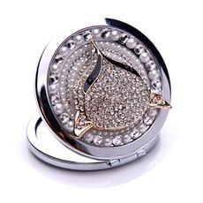 Κορυφαίας ποιότητας διπλό που αντιμετωπίζουν τη γοητεία Πτυσσόμενα ένθετο διαμάντι Επιχείρηση Μικρό Καθρέφτης & Χτένα