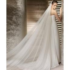 Η νύφη νυφικό νυφικό μαλακό νήματα 3 μέτρα μήκος και δύο στρώμα μαλακό πέπλο