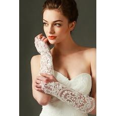 Δαντέλα Δαντέλα Μακρύ Ψευτογάντι Διακόσμηση Γάντια γάμου