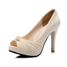 Σέξυ ψηλά τακούνια πλατίνα σανδάλια ψώνια μόδας παπούτσια στόμα παπούτσια
