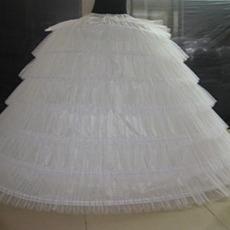 Ταφτάς πολυεστέρα Ελαστική μέση Πλήρες φόρεμα Μεσοφόρι γάμου
