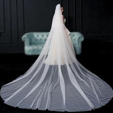 Νύφη αδιάβροχο απλό πέπλο νυφικό αξεσουάρ γάμου μακρύ πέπλο