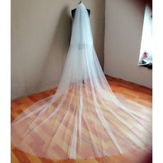 πολλαπλών στρώμα Φθινόπωρο Με χτένα απλός Πέπλα του γάμου