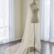 Φτερά νυφικό σάλι τουλίπα γάμου σάλι μήκος 2Μ