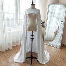 Σατέν φόρεμα νυφικό νυφικό μοναδικό σάλι μήκος 200CM
