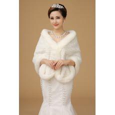 Χειμώνας Ορθογώνιο Παχύ Σούπερ μακράς Κουμπιά Σάλια γάμου