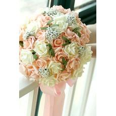 30 λουλούδι μπουκέτο Νύφη εκμετάλλευση σαμπάνιας αυξήθηκε προσομοίωση λουλούδι γάμο παράνυμφος