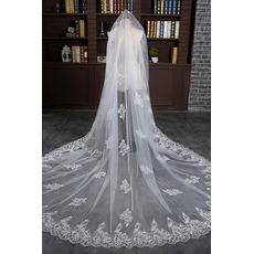 Μακρύ και φαρδύ πέπλο 3 μέτρα μακριά ουρά πέπλο νυφικά γαμήλια αξεσουάρ χονδρικής
