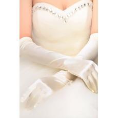 Κατάλληλη Μακρύ Πλήρη δάχτυλο Αίθουσα Ταφτάς Γάντια γάμου