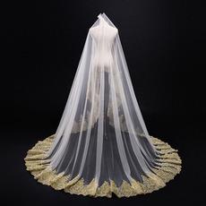 3M χρυσή δαντέλα δαντέλα καθεδρικό ναό γάμου νυφικό νυφικό αξεσουάρ γάμου βέλος