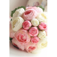 Διαμάντι μαργαριτάρι μπουκέτο απλή ατμοσφαιρική πλευρά των λουλουδιών μια οικοδέσποινα της τιμής