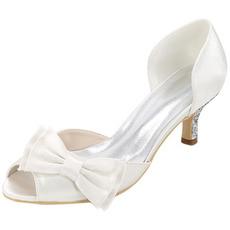 Παπούτσια γάμου συν μέγεθος μόνο παπούτσια τόξο σατέν πάρτι σανδάλια