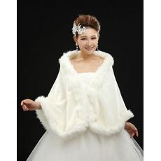 πολυλειτουργικό Λευκό Αμάνικο Χειμώνας Ρομαντικό Σάλια γάμου