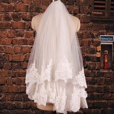 Δαντέλα Αίθουσα Γαμήλιο φόρεμα θεά δραματική Πέπλα του γάμου