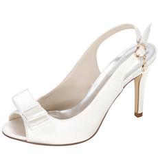 Καλοκαιρινά σατέν ψηλά τακούνια ευγενή κομψό συμπόσιο ψηλοτάκουνα Γυναικεία παπούτσια γάμου