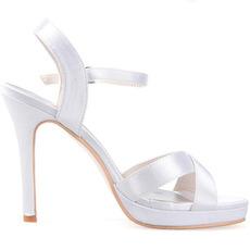 Γυναικεία παπούτσια σατινέ με λεπτή ζώνη και παπούτσια για σατέν