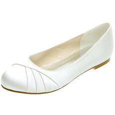 Επίπεδη παλτό σατέν γυναικεία παπούτσια επίσημα παπούτσια γάμου ετήσια συνάντηση