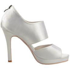 Σέξυ σατέν ανοιχτό toe ψηλά παπούτσια μόδας τακουνιών πάρτι
