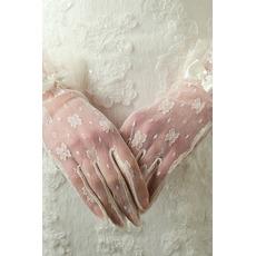 Διακόσμηση Σέξι Τόξο Ημιδιαφανές Πλήρη δάχτυλο Γάντια γάμου