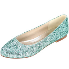 Sequin επίπεδη γυναικεία παπούτσια ασημένια παπούτσια παπούτσια για γάμο παπούτσια έγκυες γυναίκες παπούτσια γάμου