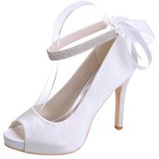 Σατέν παπούτσια γαμήλια παπούτσια γαμήλια παπούτσια παπούτσια στο στόμα ετήσια παπούτσια μόδας
