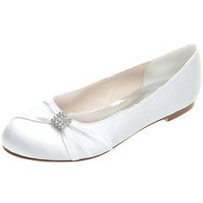 Flat παπούτσια γαμήλια παπούτσια σατέν γάμου συν επίπεδα παπούτσια μεγέθους