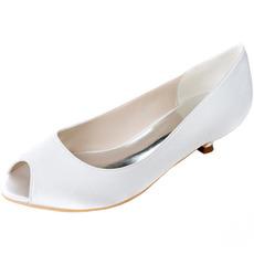 Γάμος ψάρια στόμα παπούτσια χαμηλό τακούνι έγκυες γυναίκες παπούτσια γάμου
