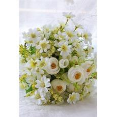 Πράσινο και λευκό τσάι μπουκέτο λουλούδια στο χέρι Κορέας νύφες παντρεμένος προσομοίωσης