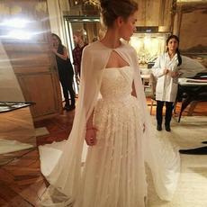 Chiffon μακρύ σάλι απλό κομψό γαμήλιο μπουφάν 2 μέτρα μήκος