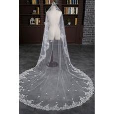 Νυφικό πέπλο γαμήλιο πέπλο με υδατοδιαλυτή δαντέλα
