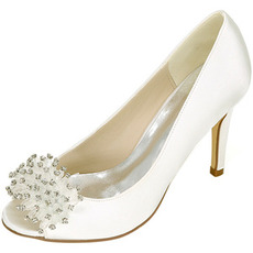 Γυναικεία παπούτσια γυναικών Γάμου ρηχά στόμα ψαριού κεφάλι ψηλά τακούνια rhinestone ενιαία παπούτσια παράνυμφων φόρεμα επίσημα παπούτσια