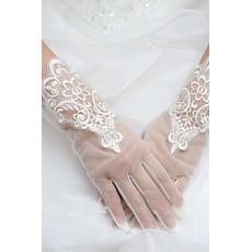 Δαντέλα σικ Άνοιξη Δαντέλα Σύντομη Διακόσμηση Γάντια γάμου
