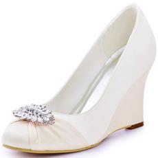 Γυναικεία παπούτσια με ψηλό τακούνι με σφήνα 10cm και παπούτσια με τακούνι βάρκα