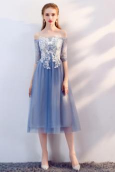 Δαντέλα Κοντομάνικο Φυσικό Άνοιξη Γραμμή Α Παράνυμφος φορέματα