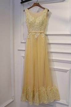 Φερμουάρ επάνω Ντραπέ Δαντέλα επικάλυψης Παράνυμφος φορέματα