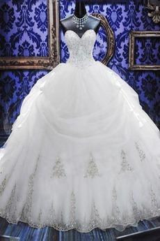 Επίσημη Κρυστάλλινη Φόρεμα μπάλα Μακρύ Φθινόπωρο Νυφικά