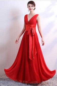 Φερμουάρ επάνω Λαιμόκοψη V Πολυτελές Γραμμή Α Παράνυμφος φορέματα