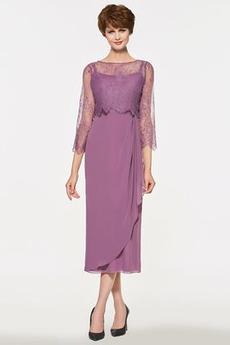 σικ Τιράντες σπαγγέτι Πλαϊνό Ντραπέ Δαντέλα επικάλυψης Μητέρα φόρεμα