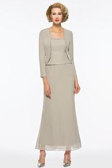 Τετράγωνο Φερμουάρ επάνω Με σακάκι Φυσικό Μητέρα φόρεμα