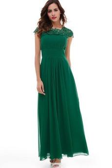 Γραμμή Α Αχλάδι Μέχρι τον αστράγαλο Προσαρμοσμένες μανίκια Βραδινά φορέματα